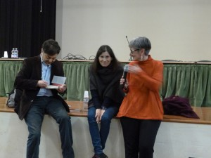 Tommaso Pincio con Adriana Lorenzi e la prof.ssa Giannone